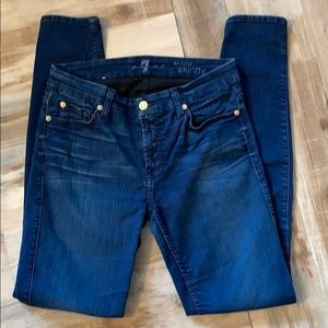 7 for all mankind the mid rise skinny jean